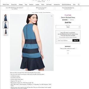 Eloquii block denim dress